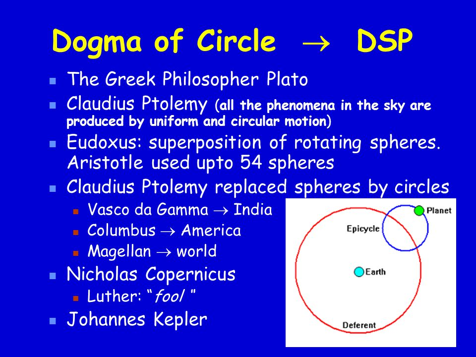 Dogma of Circle  DSP The Greek Philosopher Plato