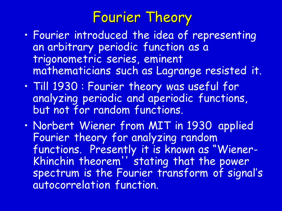 Fourier Theory