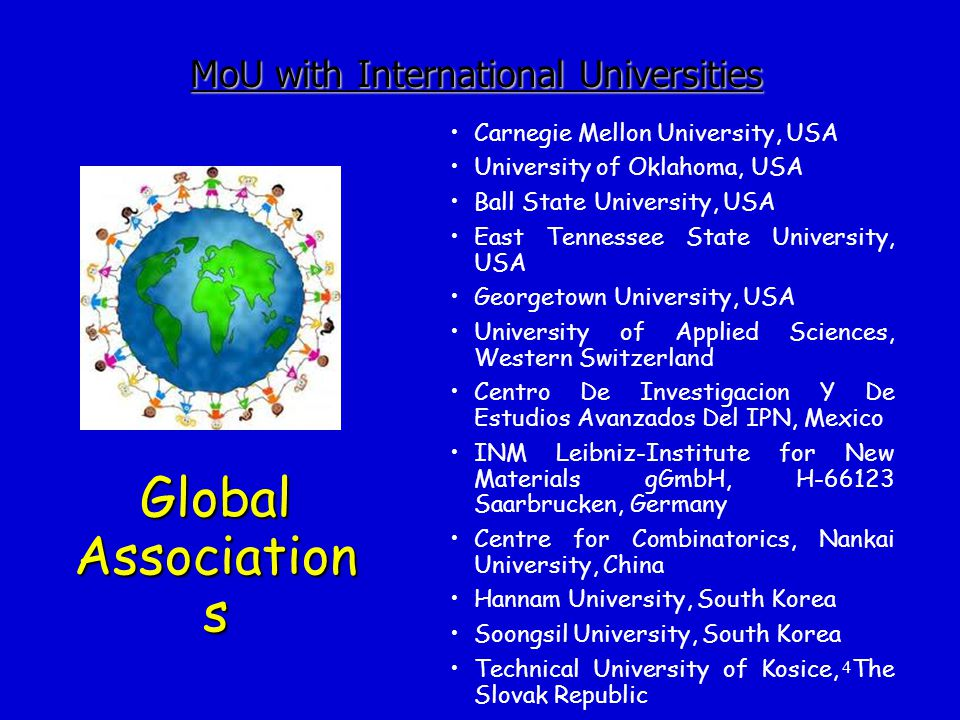MoU with International Universities