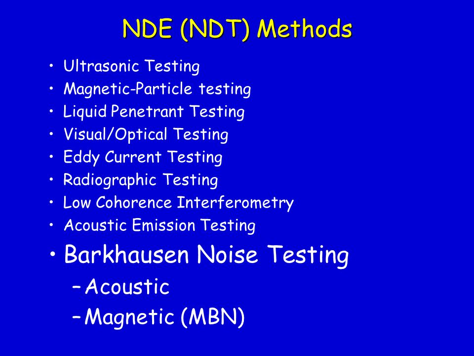 Barkhausen Noise Testing