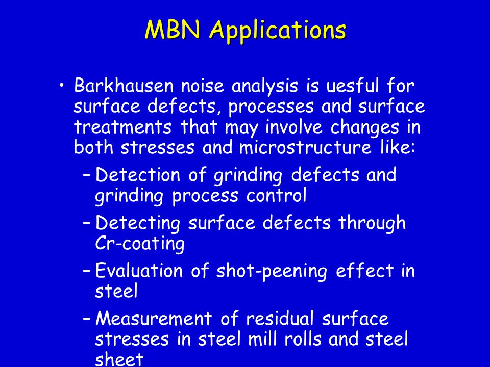 MBN Applications