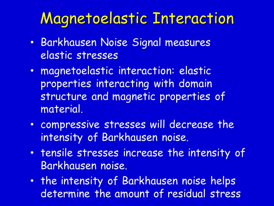 Magnetoelastic Interaction