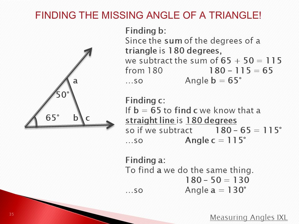 FINDING THE MISSING ANGLE OF A TRIANGLE!