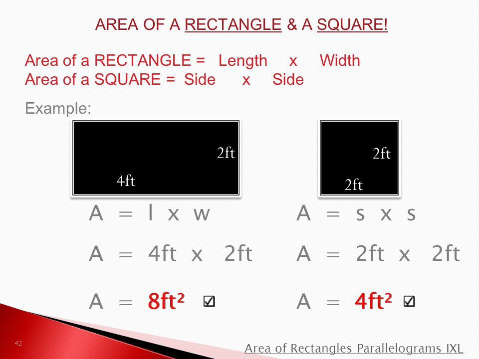 AREA OF A RECTANGLE & A SQUARE!
