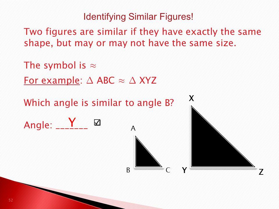Identifying Similar Figures!