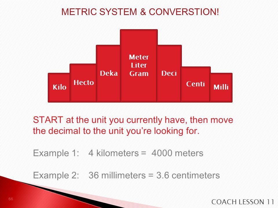 METRIC SYSTEM & CONVERSTION!