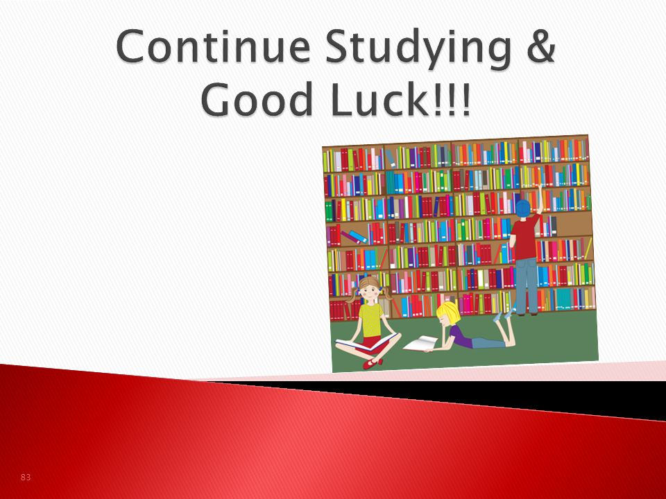 Continue Studying & Good Luck!!!