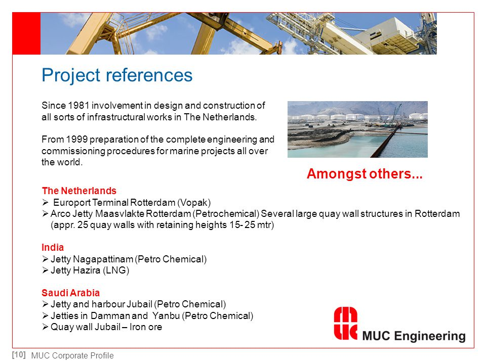 Project references Amongst others...