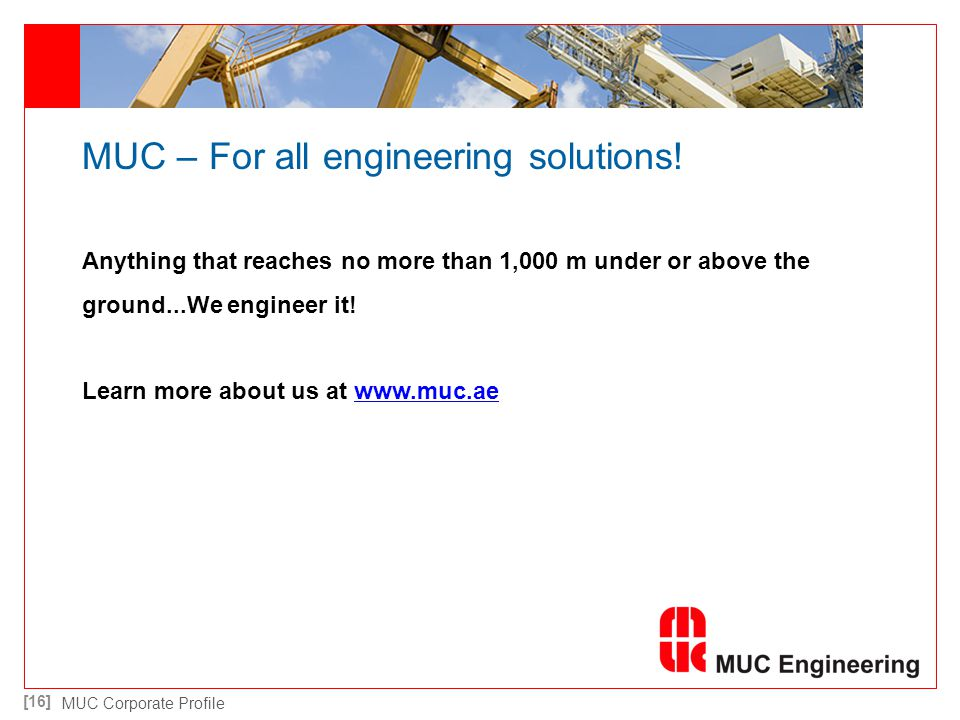MUC – For all engineering solutions!