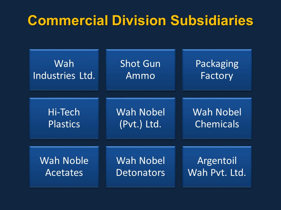 Commercial Division Subsidiaries