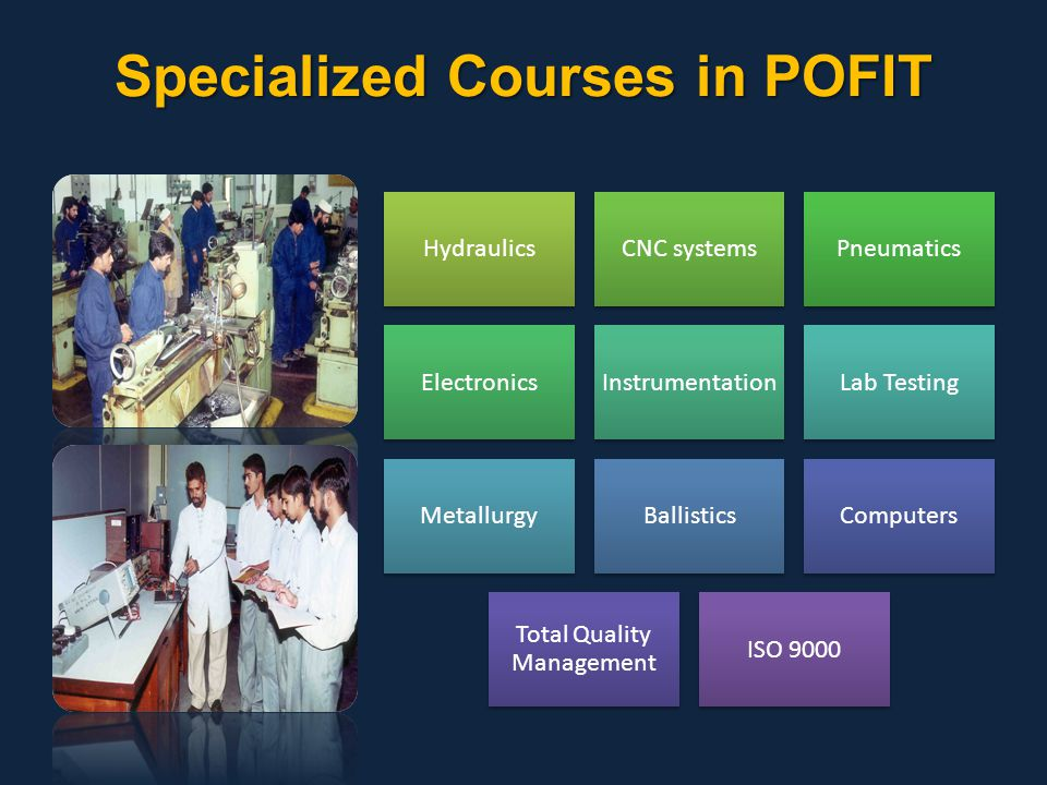 Specialized Courses in POFIT