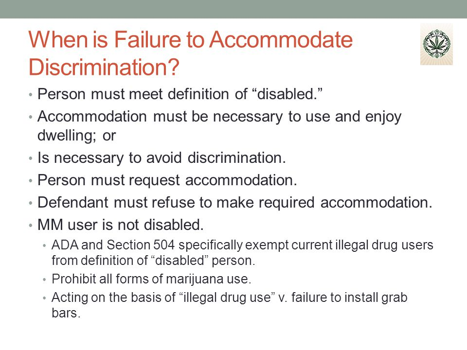 When is Failure to Accommodate Discrimination