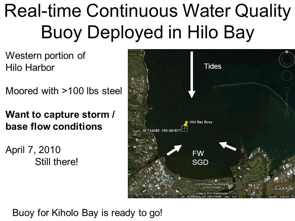 Real-time Continuous Water Quality Buoy Deployed in Hilo Bay