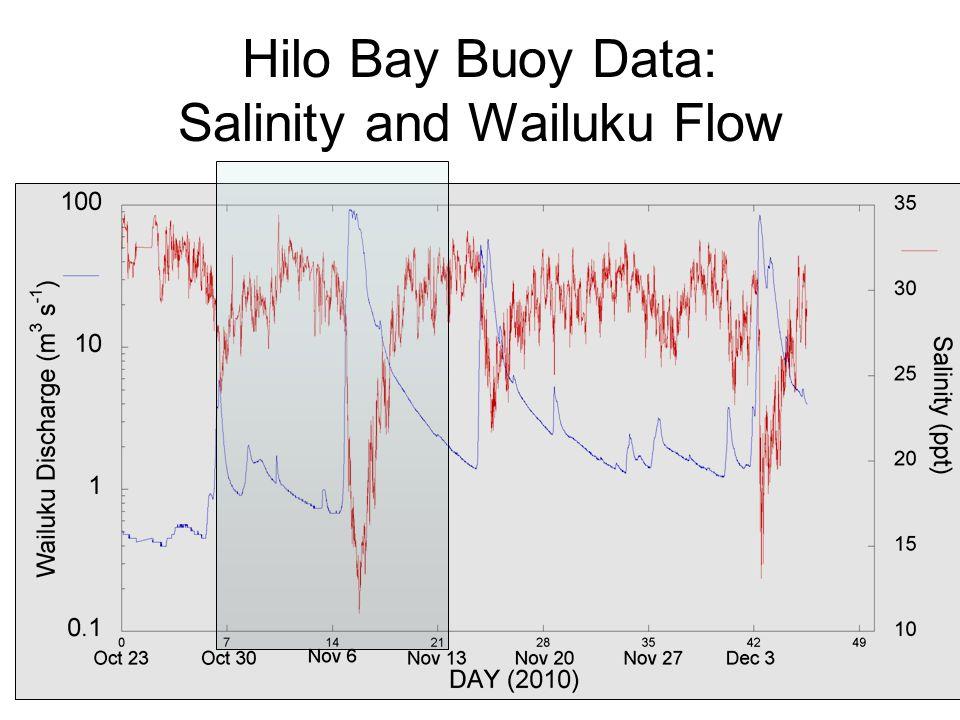 Hilo Bay Buoy Data: Salinity and Wailuku Flow