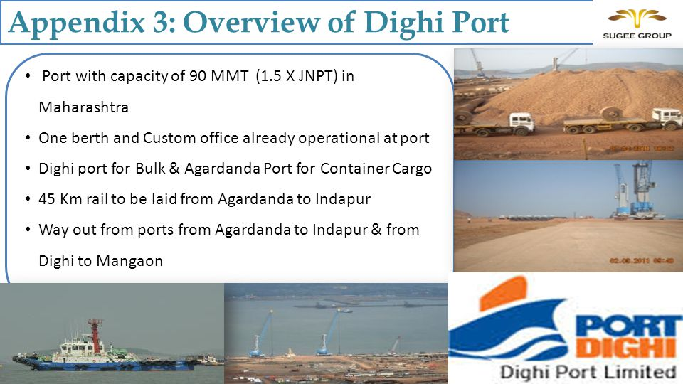 Appendix 3: Overview of Dighi Port