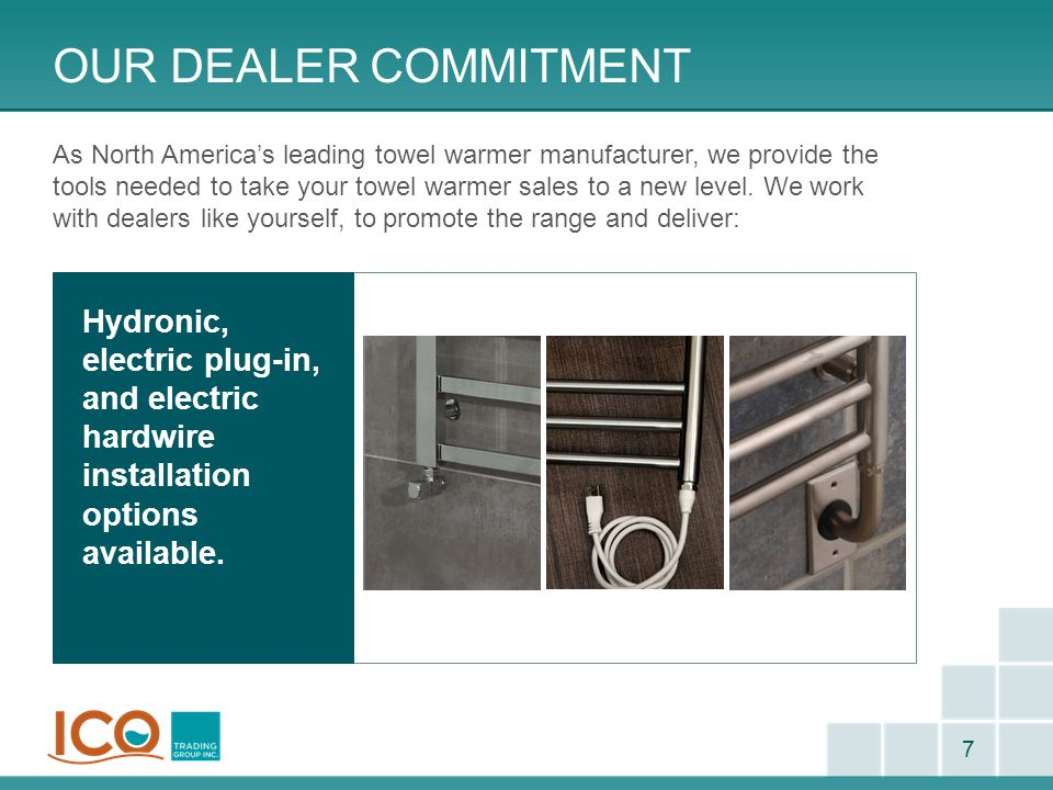 Our Dealer commitment Attractive stocking programs.