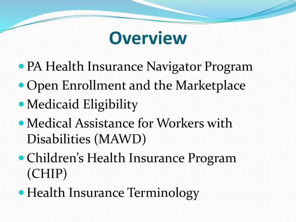 PA Health Insurance Navigator Program - ppt download