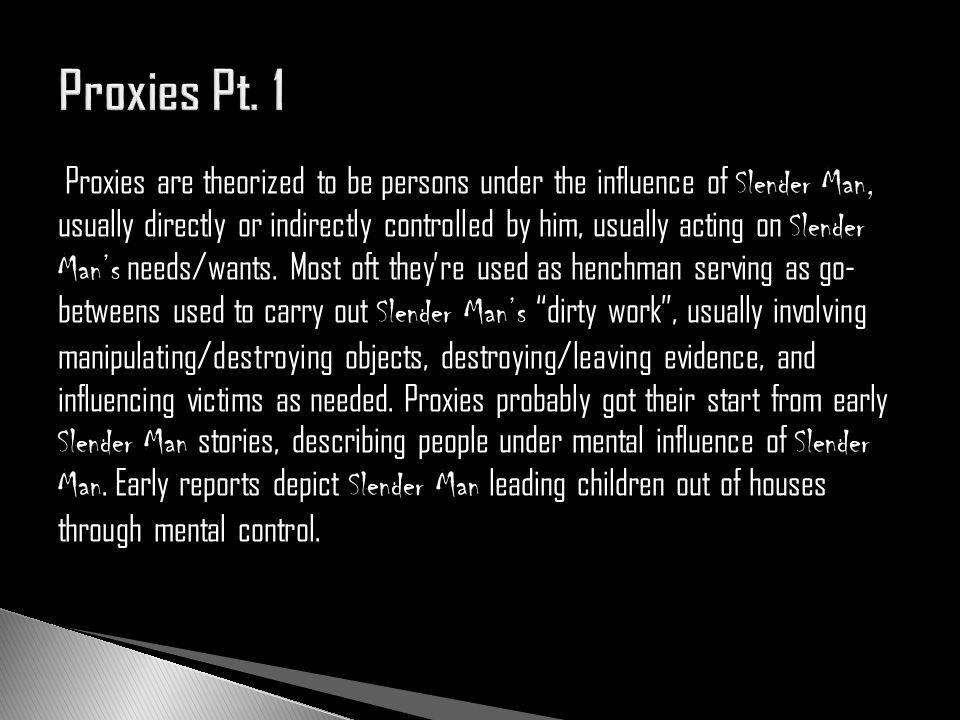 Proxies Pt. 1