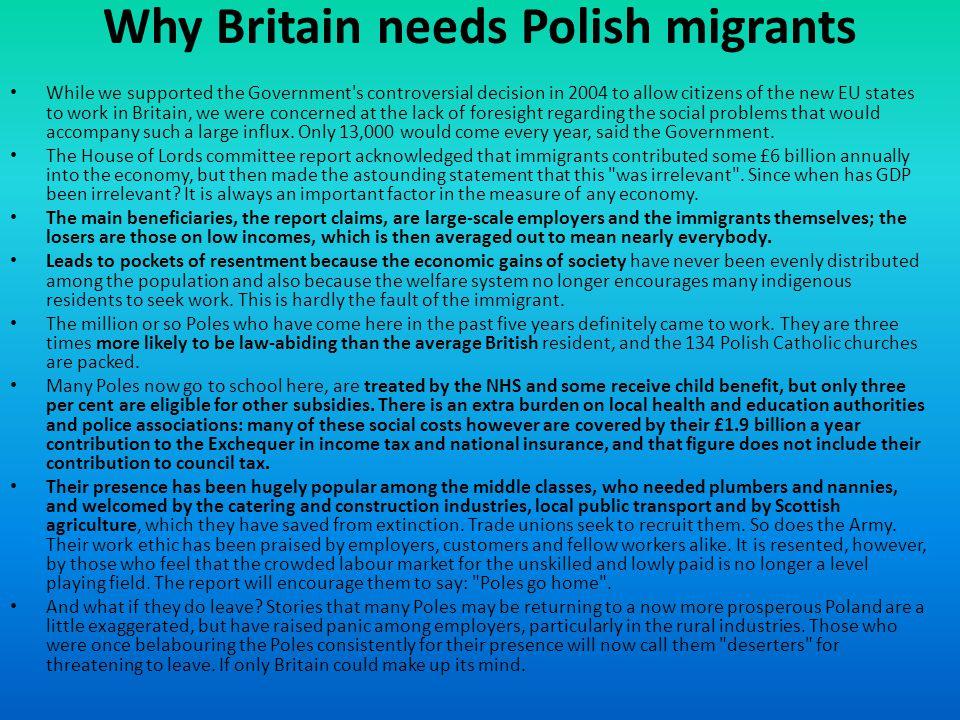 Why Britain needs Polish migrants
