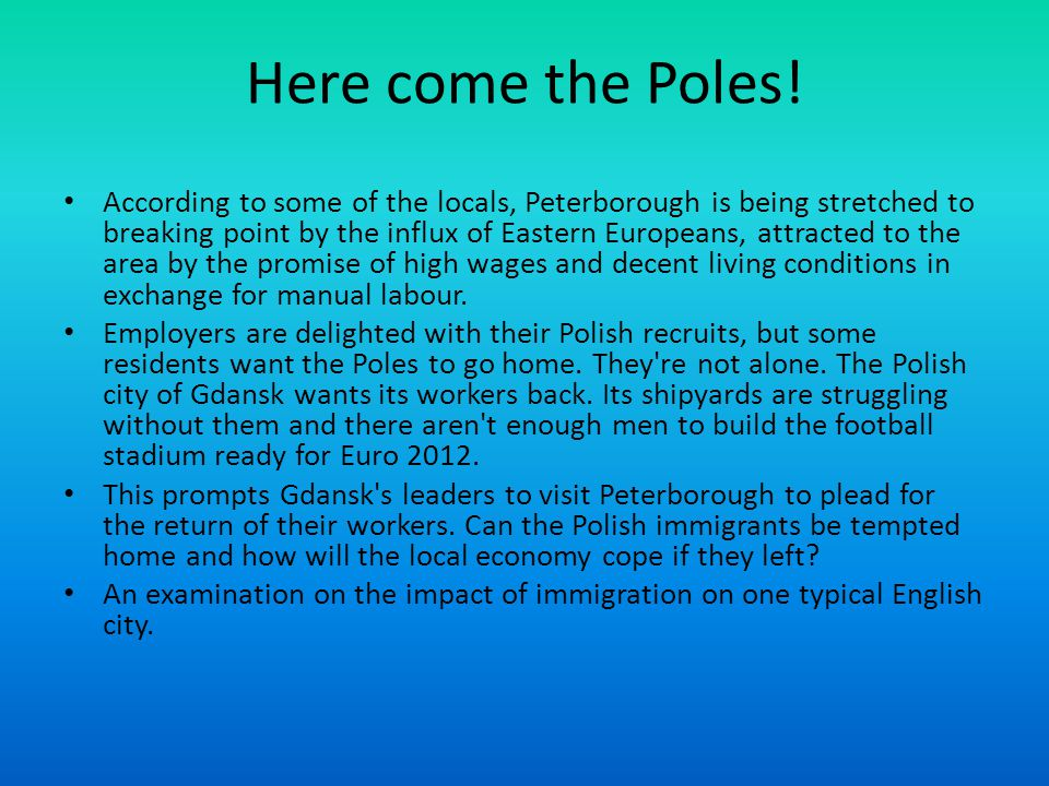 Here come the Poles!