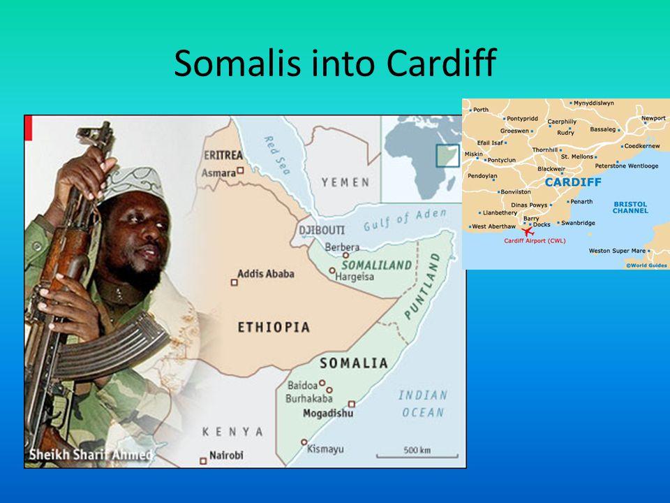 Somalis into Cardiff