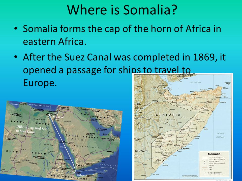 Where is Somalia Somalia forms the cap of the horn of Africa in eastern Africa.
