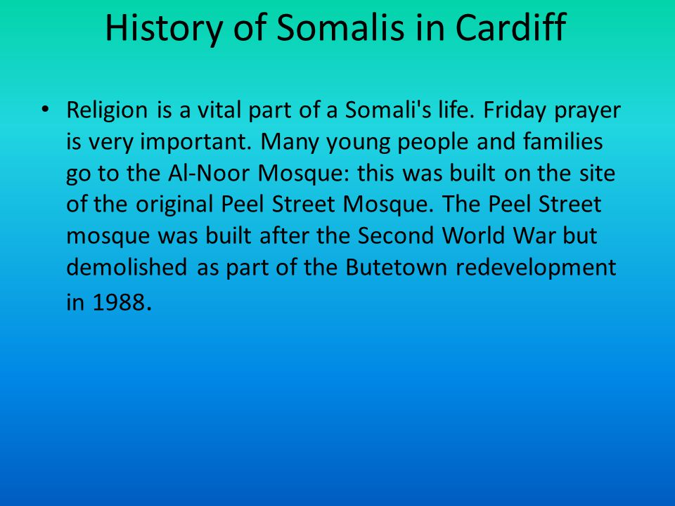 History of Somalis in Cardiff