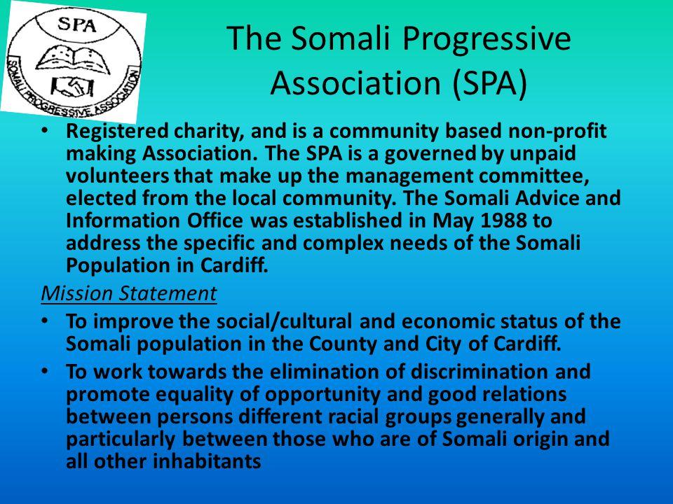 The Somali Progressive Association (SPA)