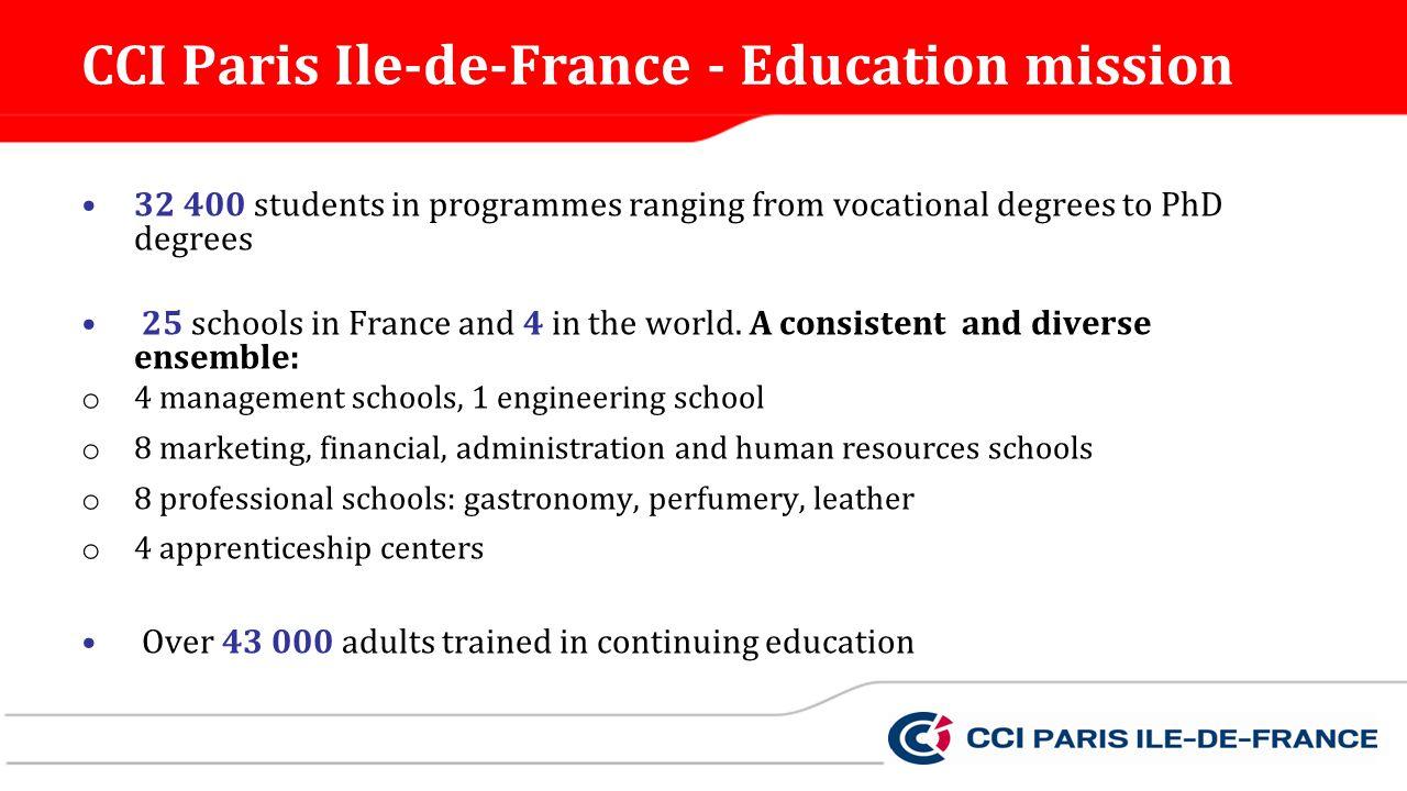 CCI Paris Ile-de-France - Education mission