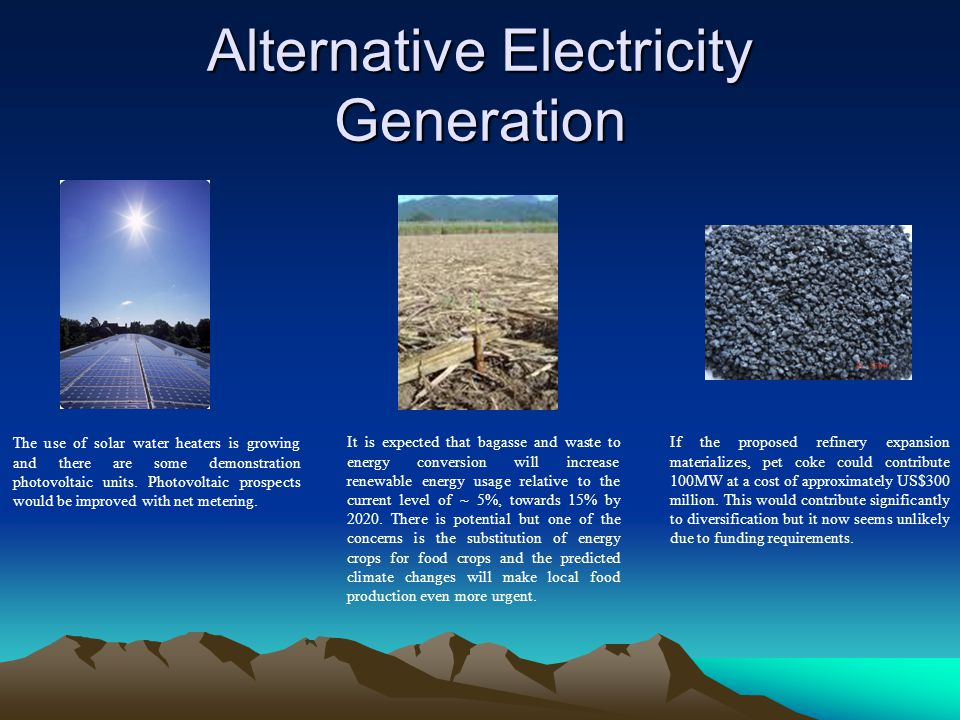 Alternative Electricity Generation