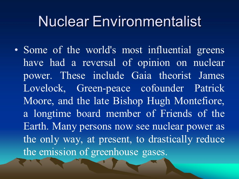 Nuclear Environmentalist