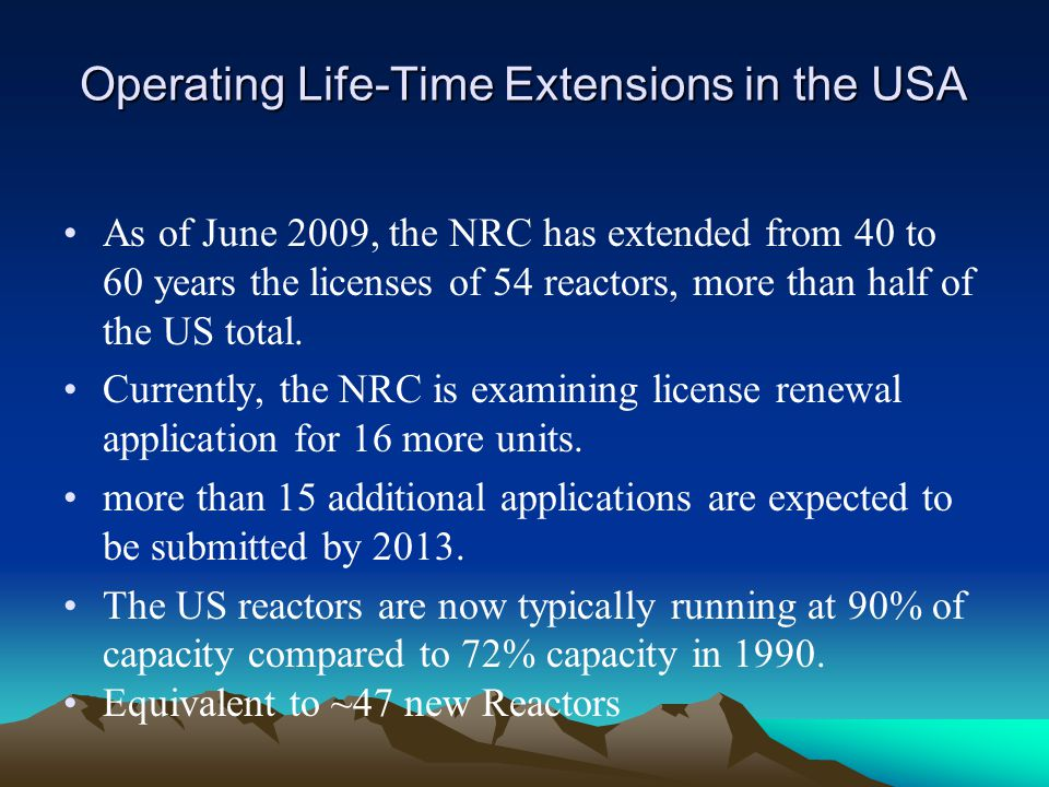 Operating Life-Time Extensions in the USA