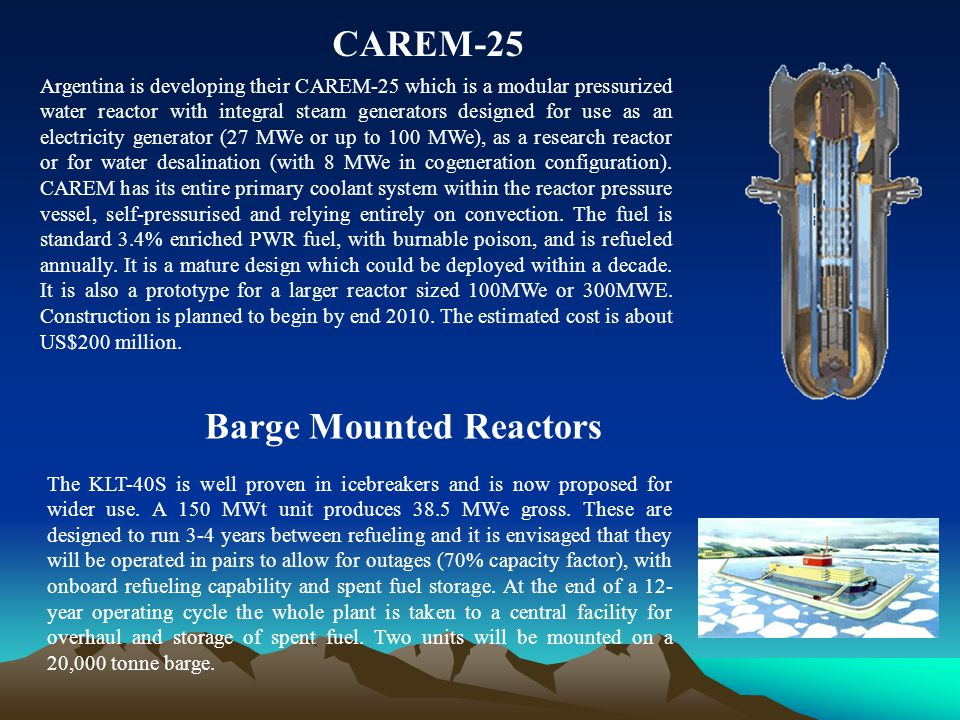 Barge Mounted Reactors