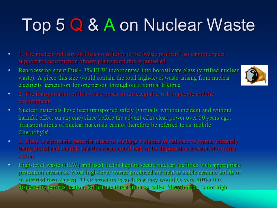Top 5 Q & A on Nuclear Waste