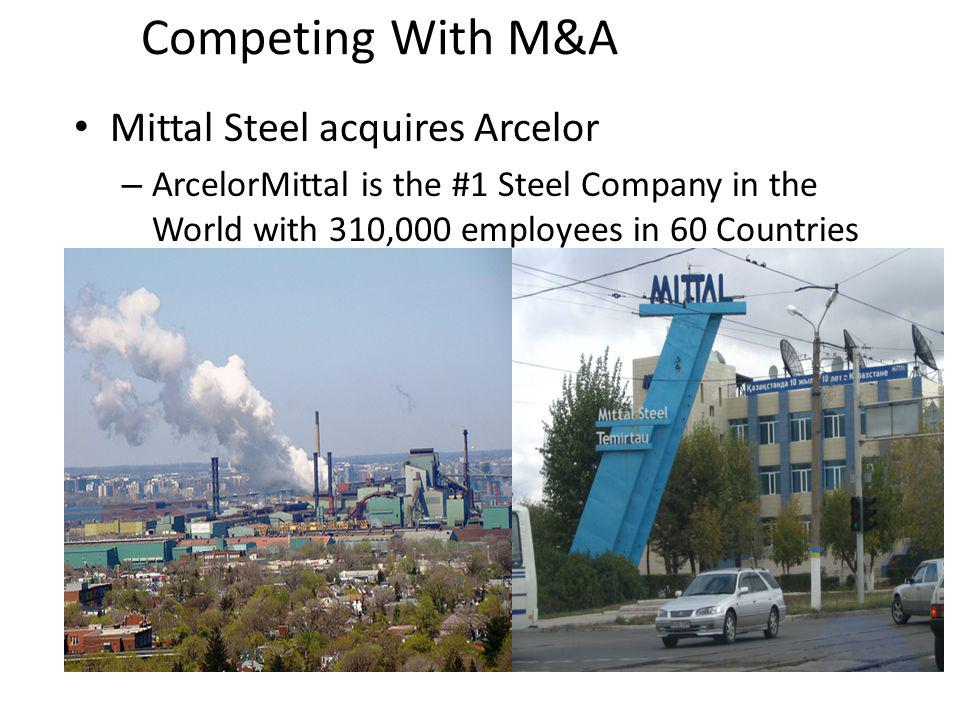 Competing With M&A Mittal Steel acquires Arcelor