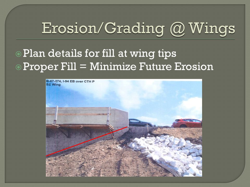 Erosion/Grading @ Wings