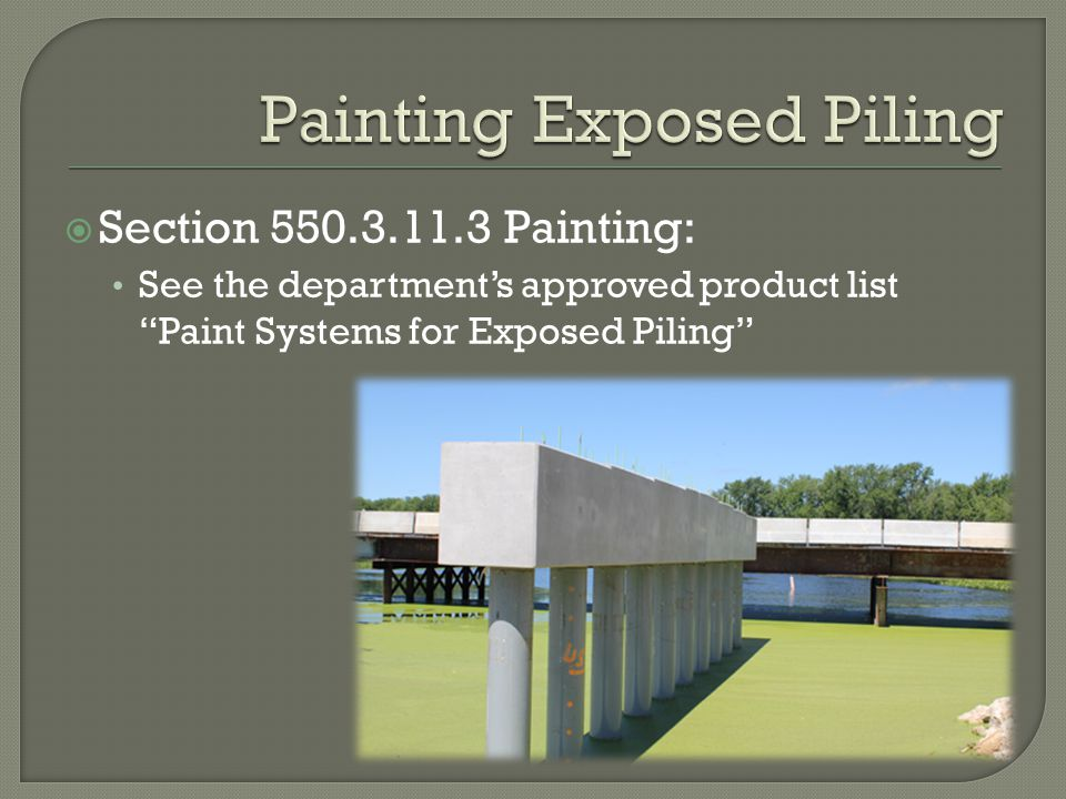 Painting Exposed Piling