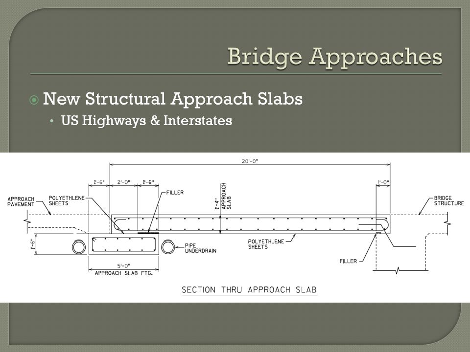 Bridge Approaches New Structural Approach Slabs