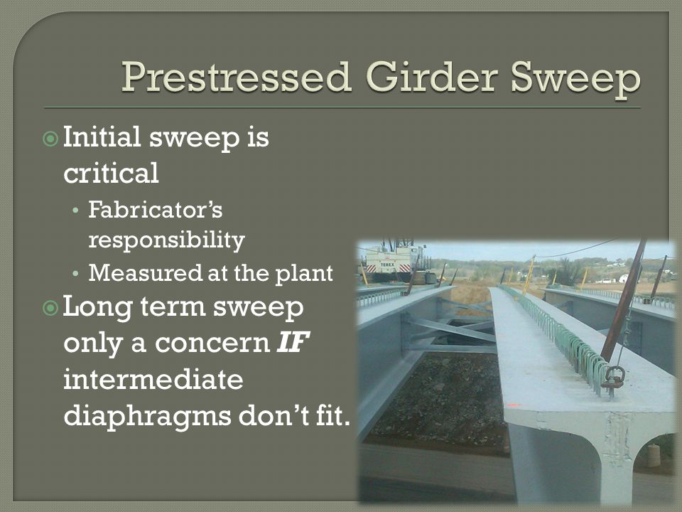 Prestressed Girder Sweep