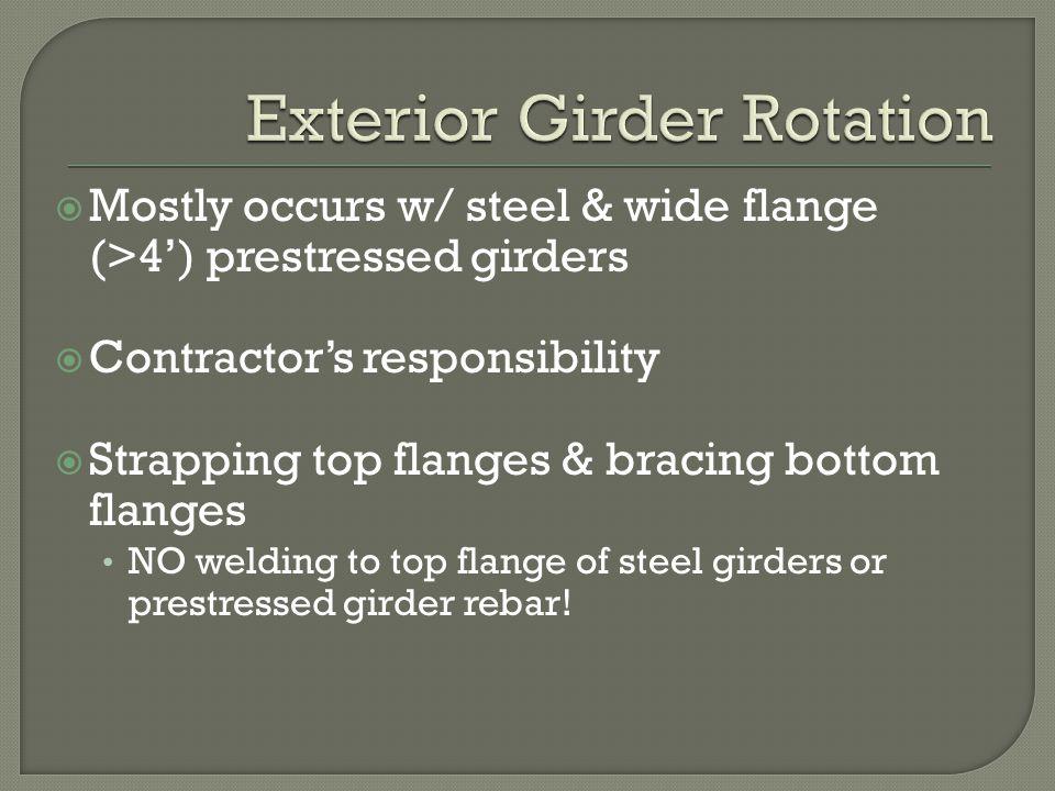 Exterior Girder Rotation