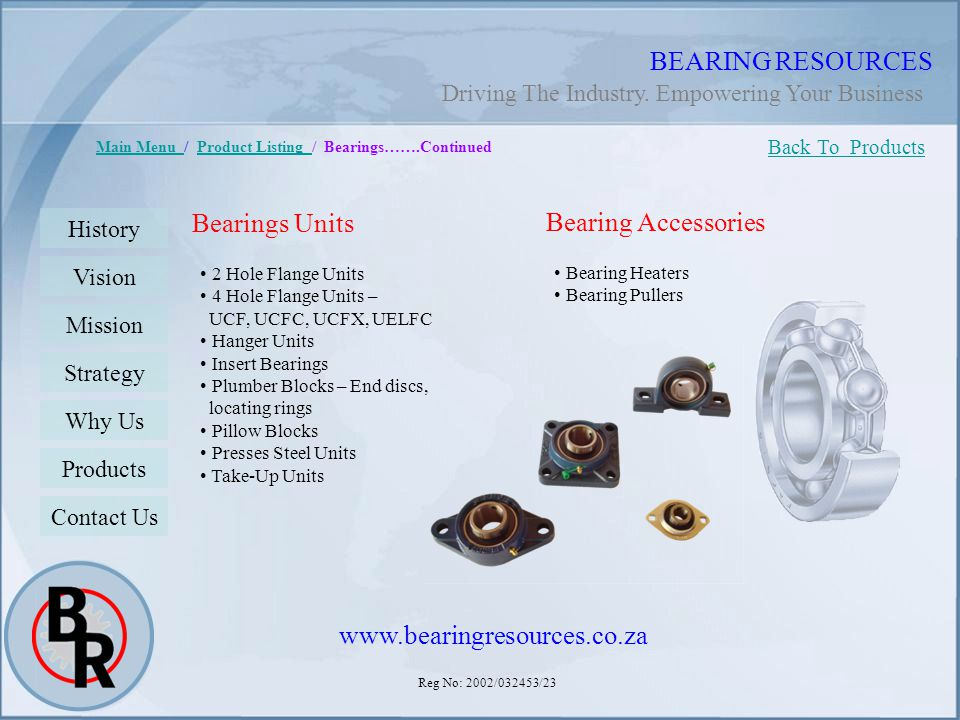 BEARING RESOURCES Bearings Units Bearing Accessories