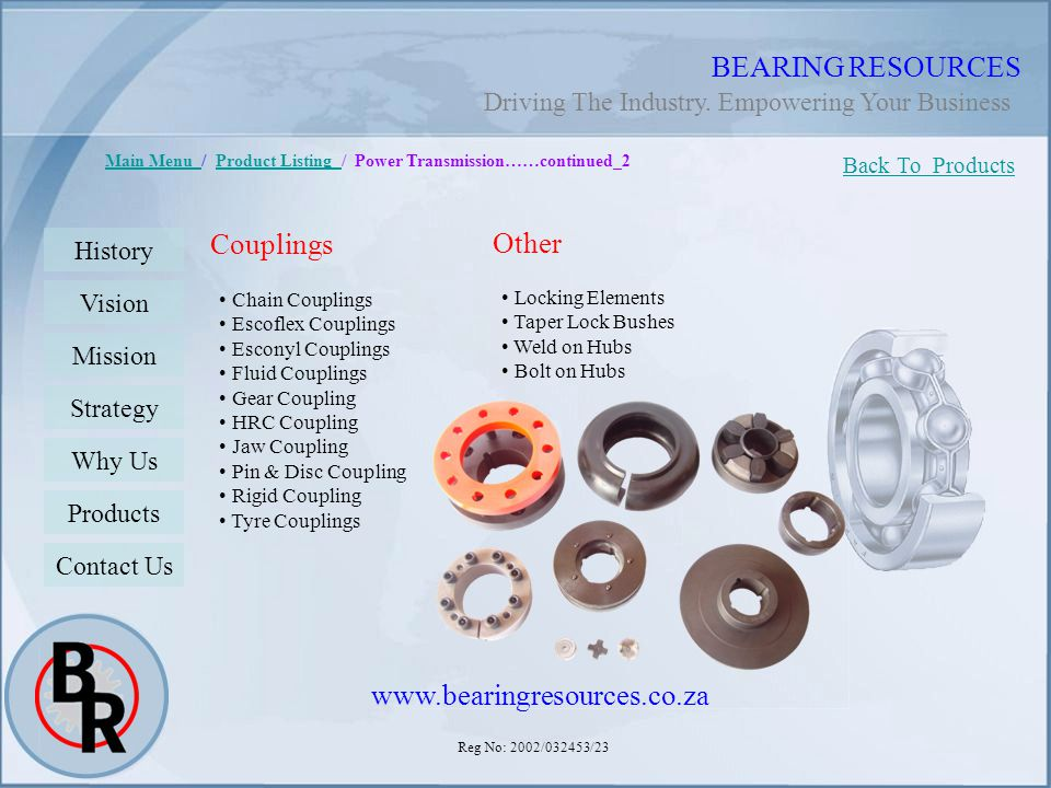BEARING RESOURCES Couplings Other www.bearingresources.co.za