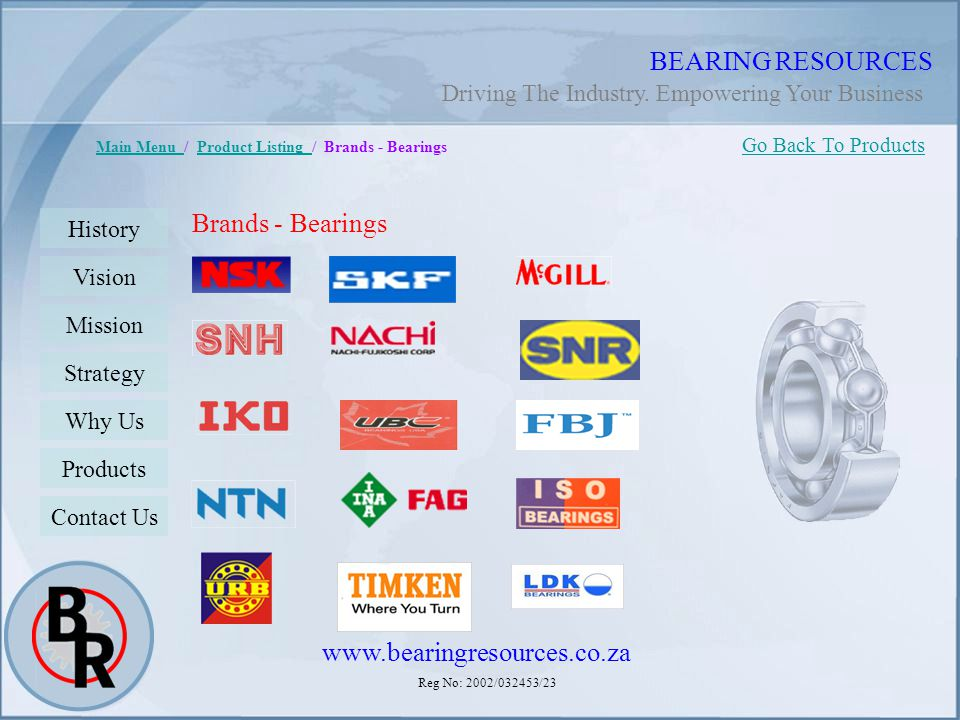 BEARING RESOURCES Brands - Bearings www.bearingresources.co.za