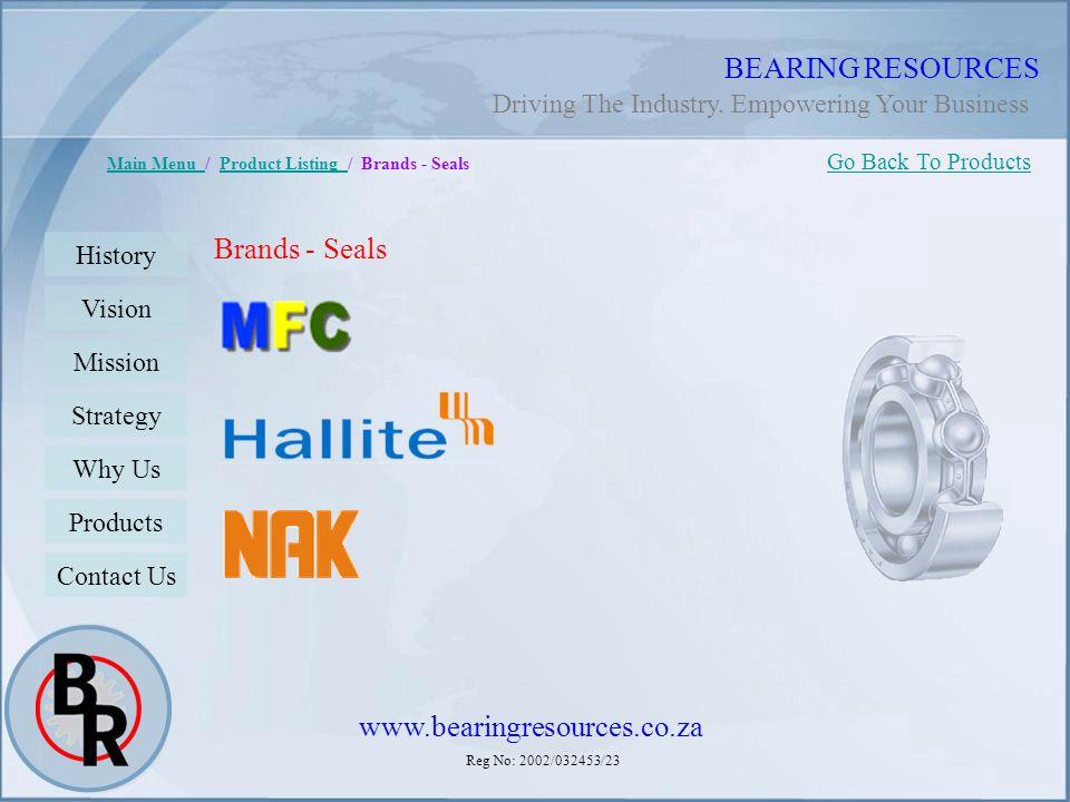 BEARING RESOURCES Brands - Seals www.bearingresources.co.za