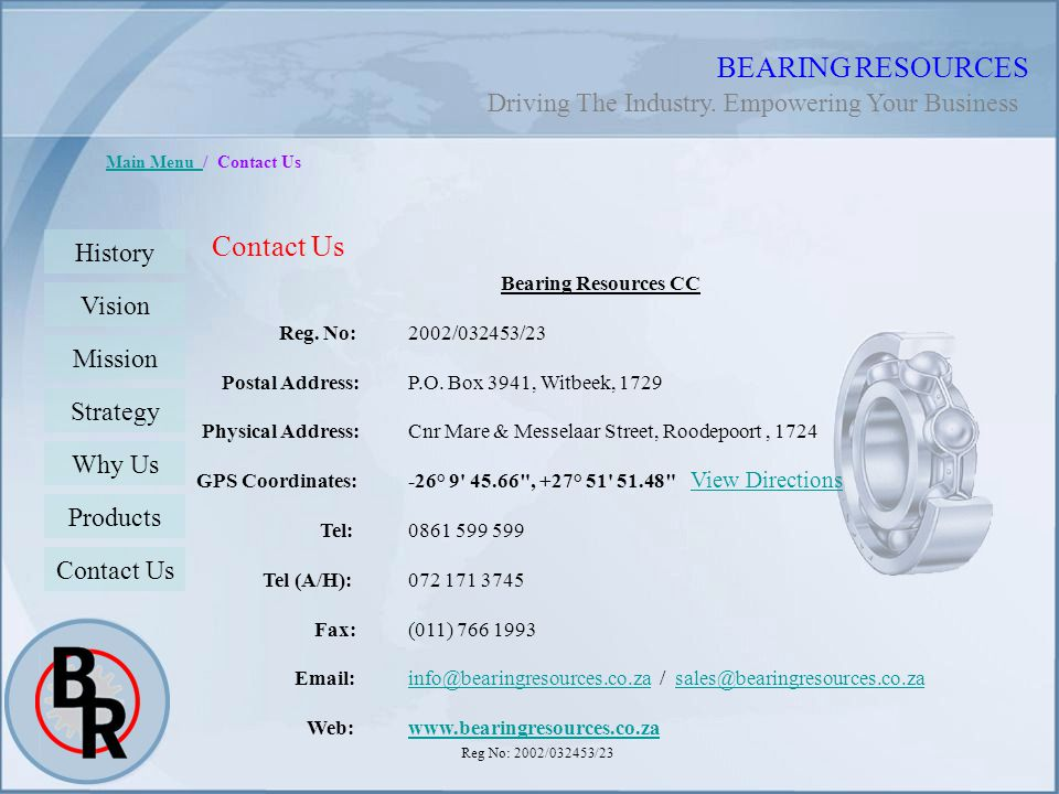 BEARING RESOURCES Contact Us
