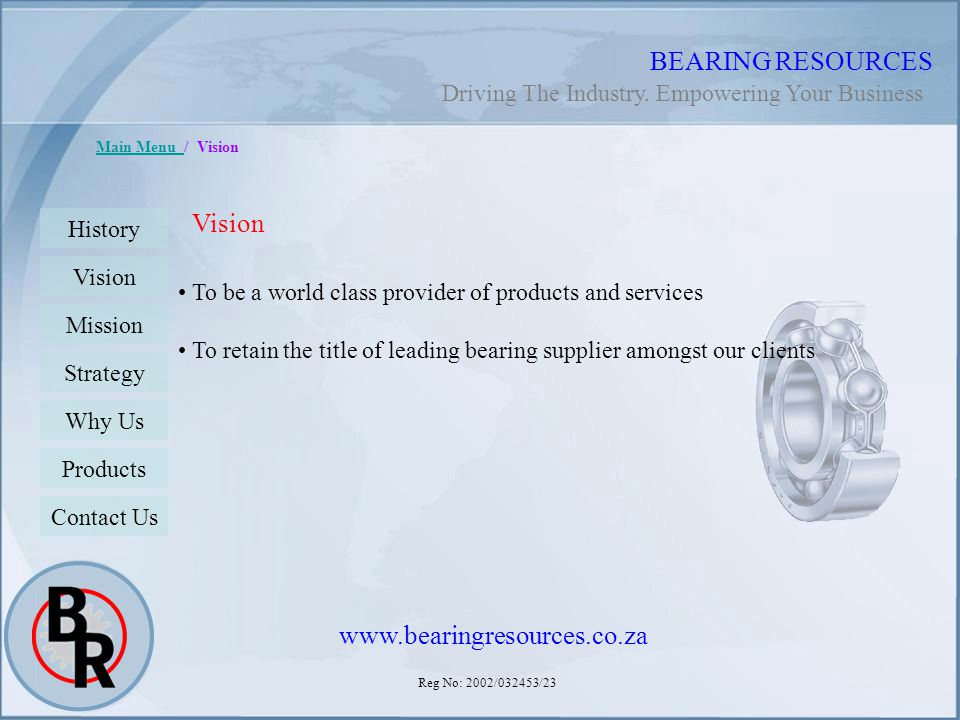 BEARING RESOURCES Vision www.bearingresources.co.za