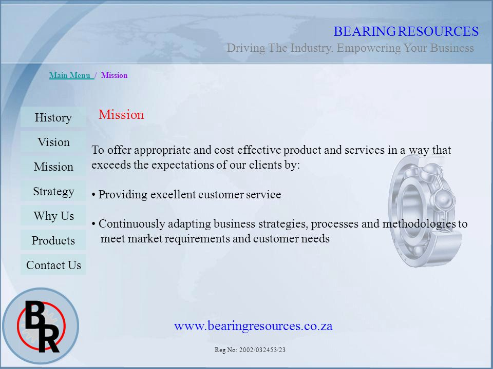BEARING RESOURCES Mission www.bearingresources.co.za