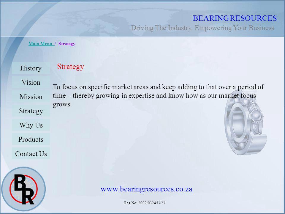 BEARING RESOURCES Strategy www.bearingresources.co.za
