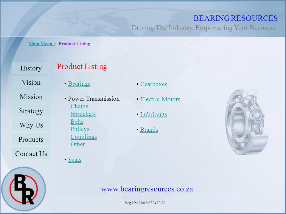 BEARING RESOURCES Product Listing www.bearingresources.co.za