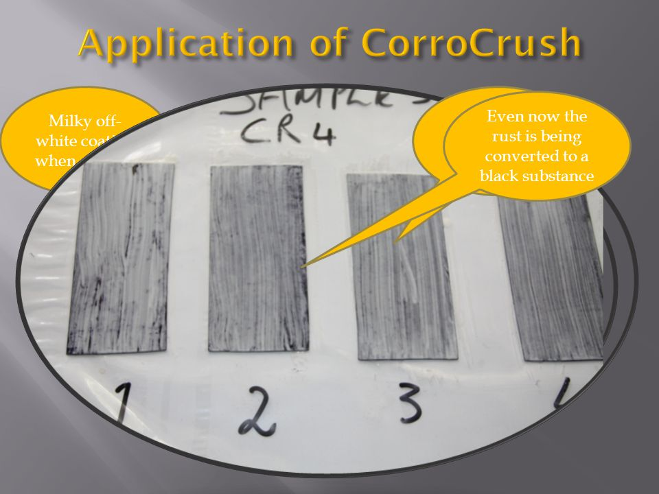 Application of CorroCrush
